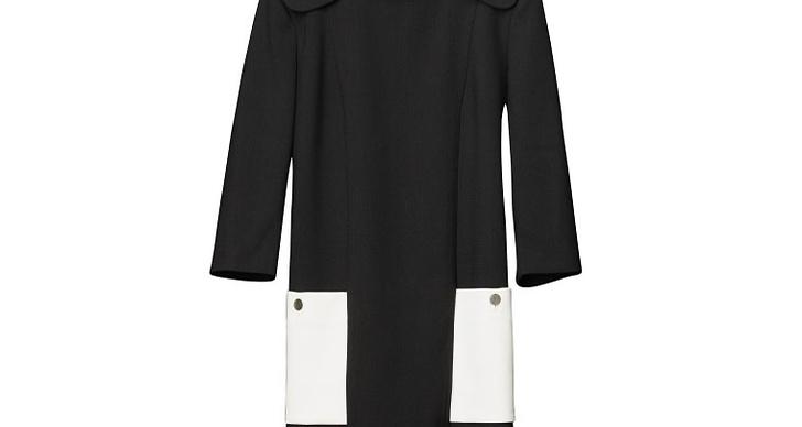 60-talsinspirerad klänning i svart och vitt.
