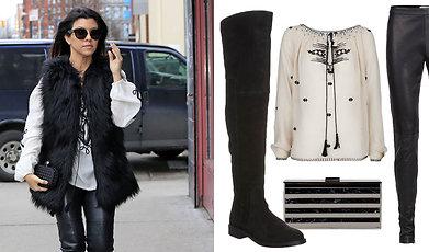 Kourtney Kardashian, Outfit, Sno stilen, Fakefur, I butik just nu